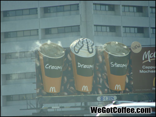 McCafe Billboards on I-4 in Tampa Florida