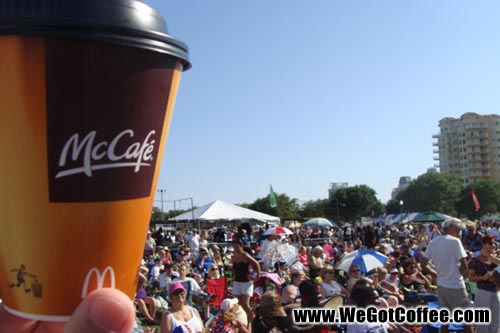 KC and the Sunshine Band and a McCafe Coffee